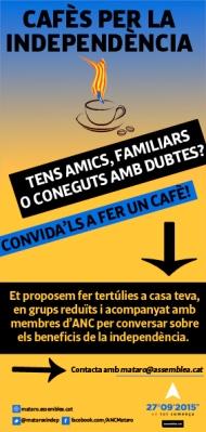 Cafès per la Independència a Mataró